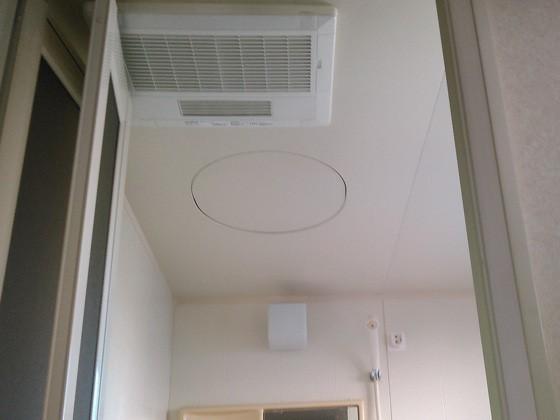 2カ所の浴室それぞれに浴室暖房を取り付けるリフォームの事例写真