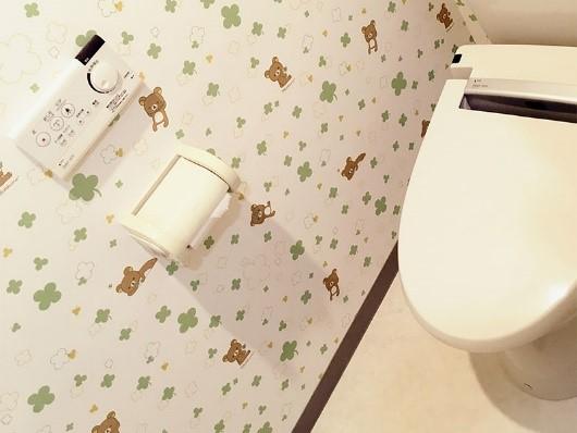 トイレのクロスを交換するリフォームの事例写真