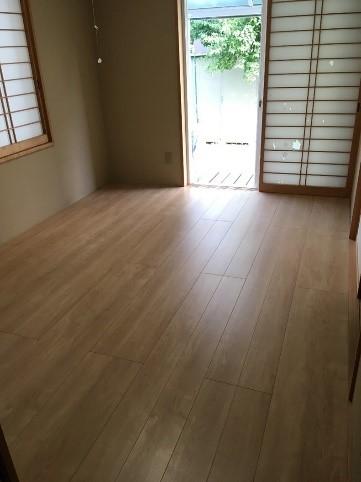 和室の畳をフローリングにするリフォームの事例写真