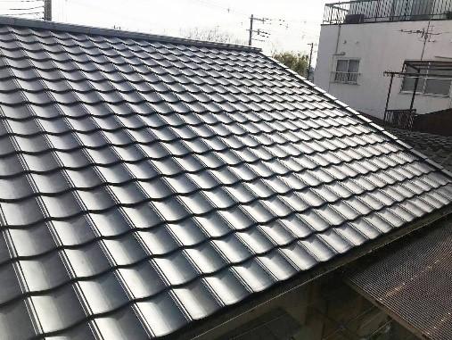 屋根瓦を葺き替えて快適で安心な屋根にリフォームの事例写真
