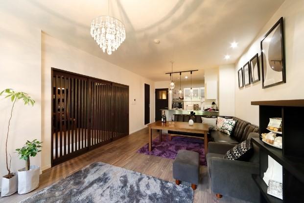 間取りを変えず和モダンな住宅に全面リフォ―ムの事例写真