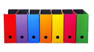 ファイルボックスの活用で、キャビネットの収納力をアップ!