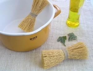 天然鍋洗い