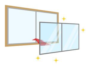 簡易内窓を取り付ける