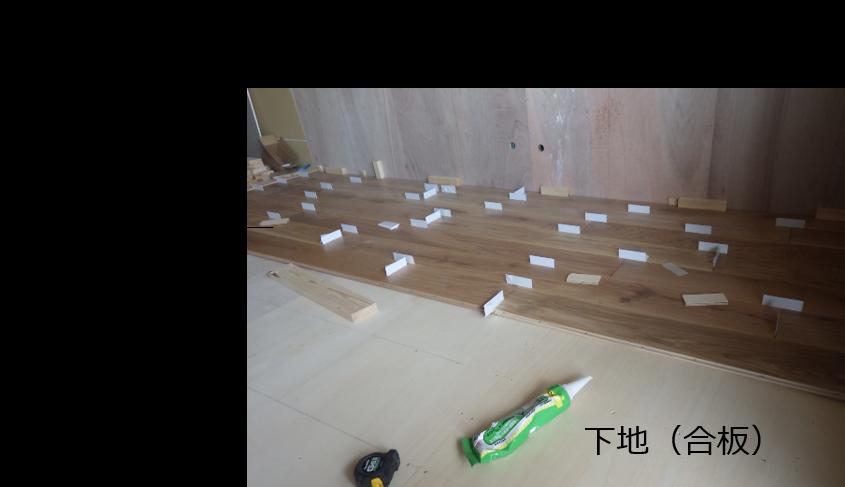 フローリングの床構造