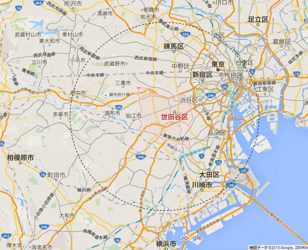 世田谷地図