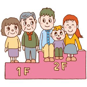 2-5.各世帯の居住空間を1階と2階に作るリフォーム(1000万~1800万)