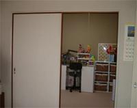 6畳二人仕様の子供部屋Before