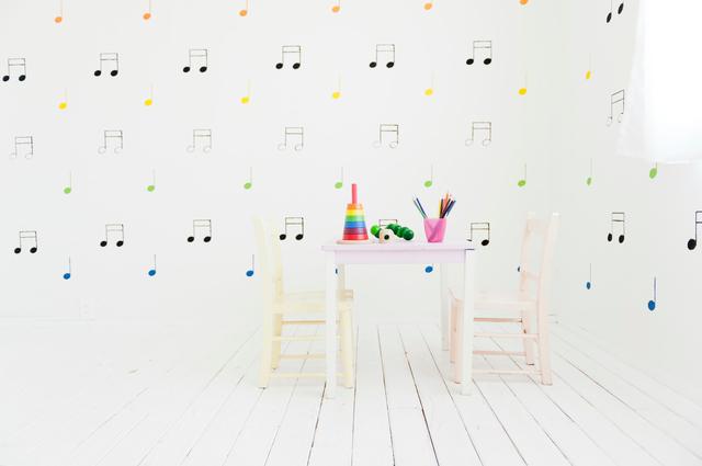 子供部屋らしい雰囲気にクロスや床材を変更する