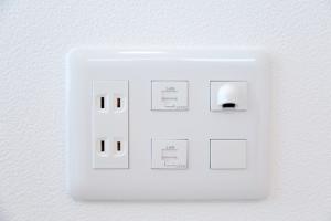 トイレ内の電源をチェックする