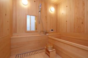 木材を使用した在来浴室