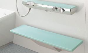 洗面器台を設置する