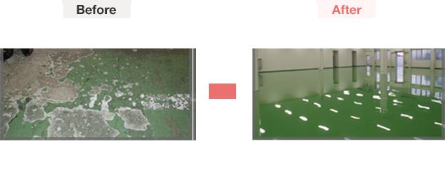 床塗装変化