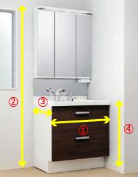 一般的な洗面台の寸法