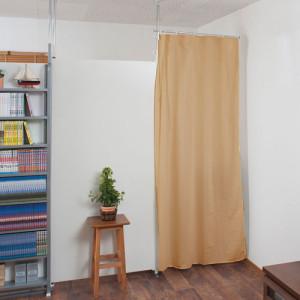 パーテーションとカーテン