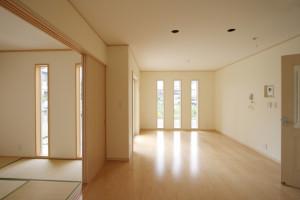 2-2.和室とリビングを一つの空間にできる間取り