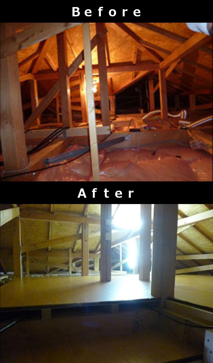 例1 一般的な屋根裏収納