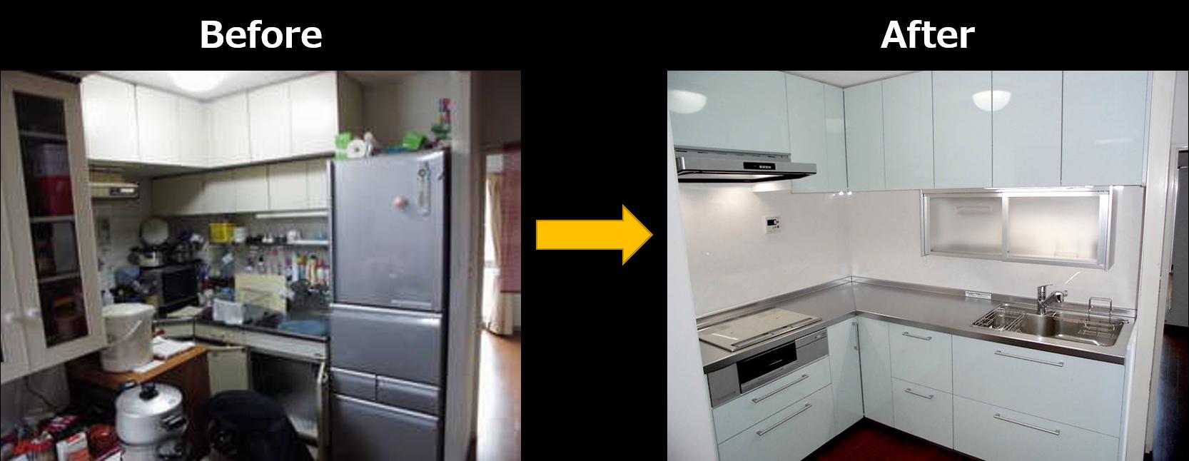 プラン1.今より大きいキッチンに交換2
