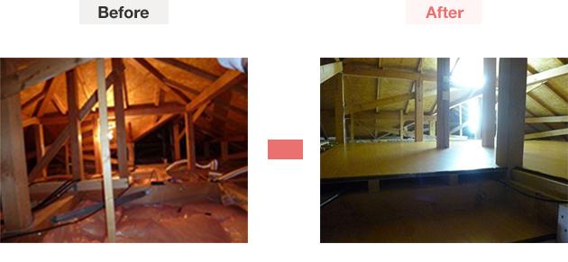 屋根裏部屋造作での見積もり一例
