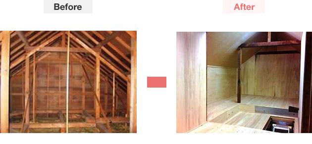 屋根裏部屋造作での見積もり一例-2