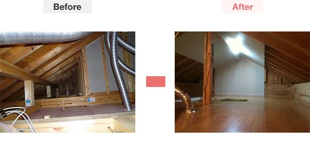 屋根裏部屋造作での見積もり一例-3