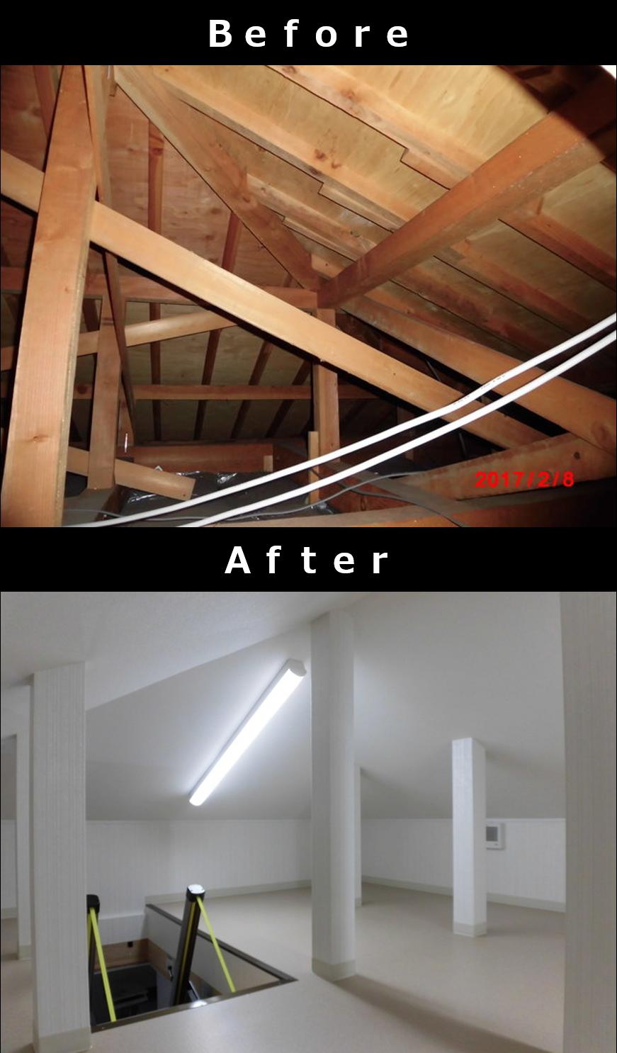 屋根裏収納をつくる場合の費用詳細