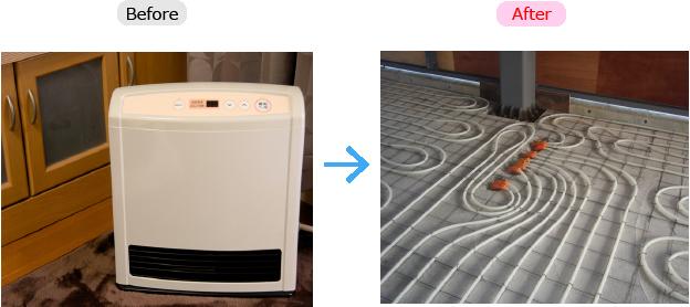 床暖房の導入