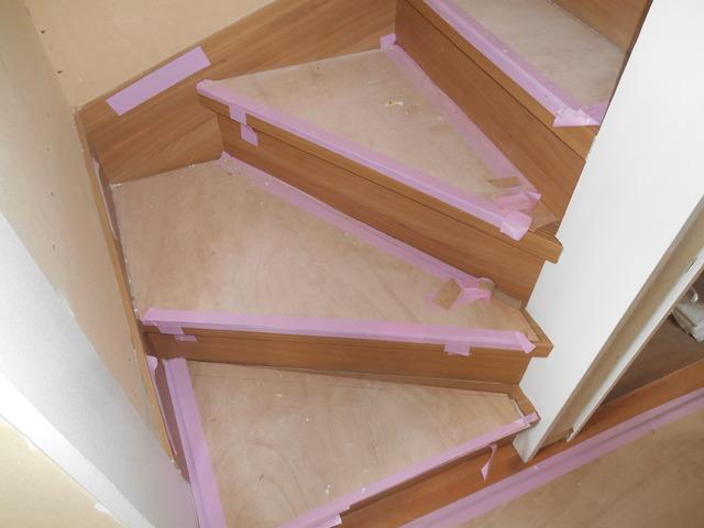 階段の床部分を変える