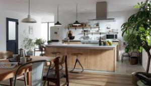 アイランド型対面キッチン