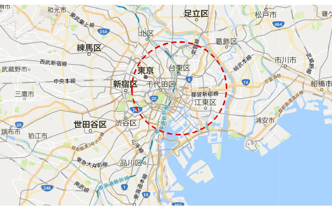 中央区マップ