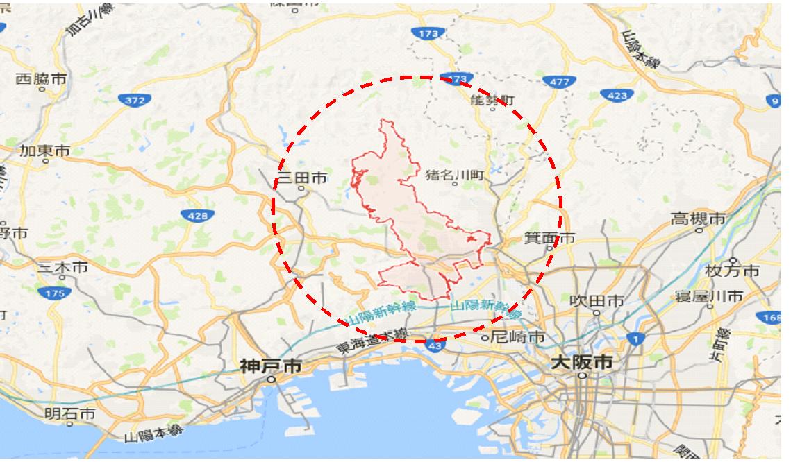 宝塚市マップ