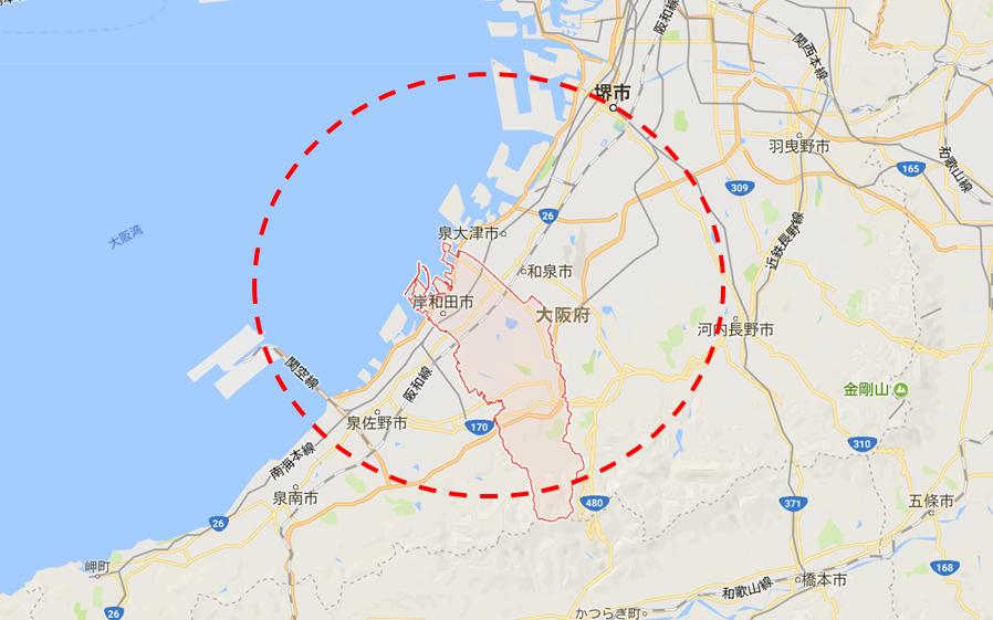 岸和田市マップ