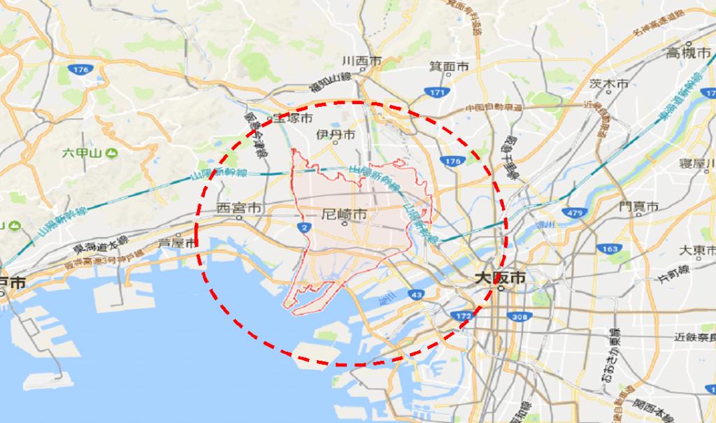 尼崎市マップ