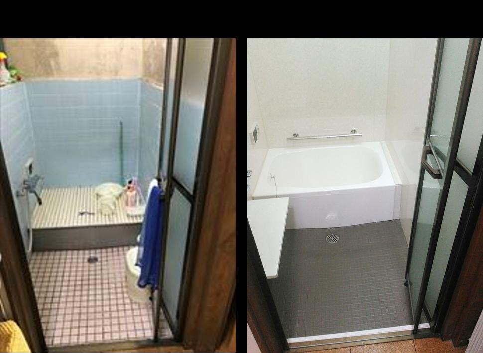 在来浴室のままお風呂リフォームする事例