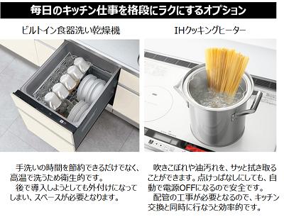 食器洗い乾燥機やIHヒーターで家事を効率化!使い勝手を向上しよう!