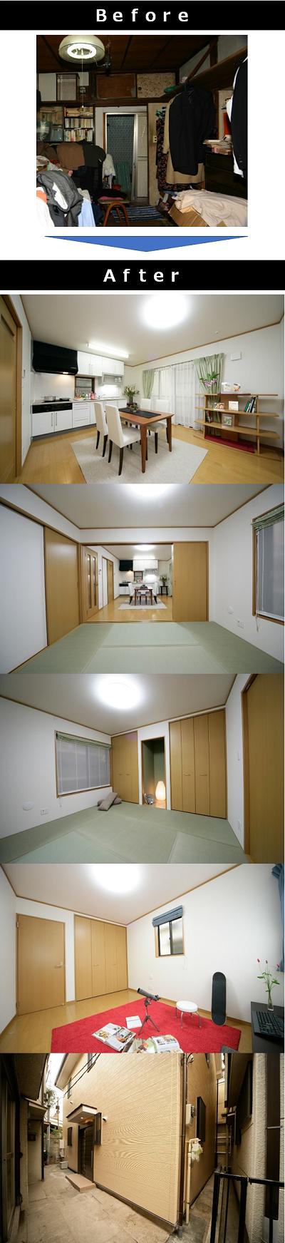 ■築40年32坪の戸建てスケルトンリフォーム事例(1854万円)