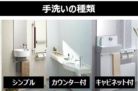 手洗いの種類