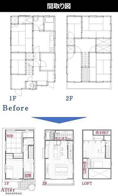 ■築40年33坪の戸建てスケルトンリフォーム(2700万円)