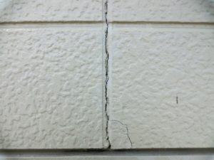 シーリング材が劣化した外壁
