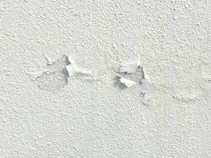 塗装の剥がれた外壁