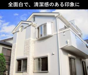 白色に塗装された家